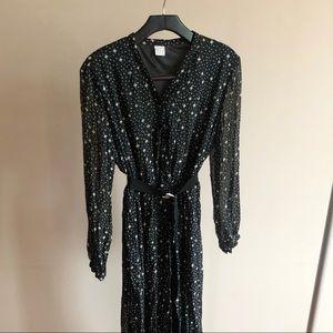 JUDITH Polka Dot & Star Print Dress